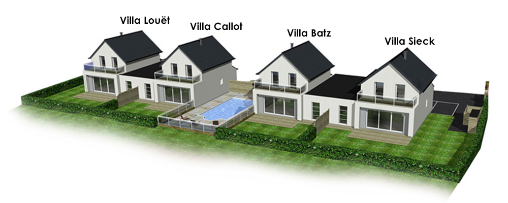4 villas en location